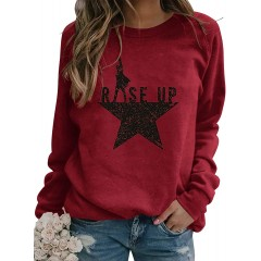 Bezsoo Womens Yellowstone Sweatshirt Long Sleeve Casual Loose Round Neck Pullover Tops Shirts at  Women's Clothing store