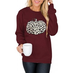 Calbetty Womens Camo Shirts Leopard Printed Sweatshirt Long Sleeve Fashion T-Shirt Casual Loose Pullover Blouse Tops at Women's Clothing store