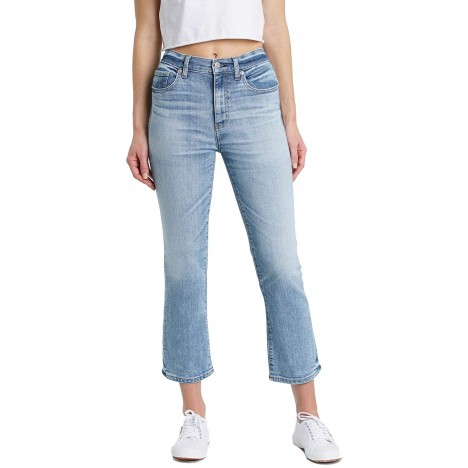 DAZE Women's Shy Girl High Rise Crop Flare Jeans with a Finished Hem at Women's Jeans store