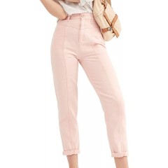 Free People Women's City of Lights Jeans Soft Pink Size 25