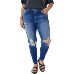 Kancan Women's Plus Ultra High Rise Distressed Ankle Skinny - KC8562HD-P at Women's Jeans store