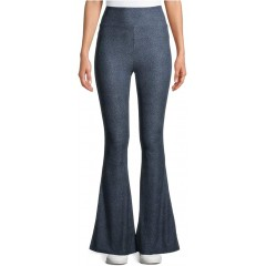 No Boundaries Denim Print High Rise Pull On Knit Flare Pants at Women's Jeans store