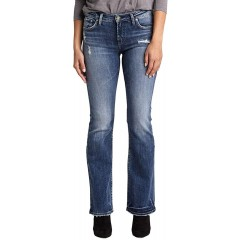 Silver Jeans Co. Women's Plus Size Avery Curvy Fit High Rise Slim Bootcut Jeans