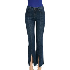 SUSIELADY Womens High Waisted Slim Pants Sexy Frayed Split Flare Bell Bottom Jeans at Women's Jeans store