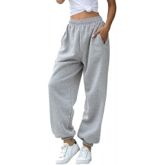 YIDIENI Women's Cinch Bottom Sweatpants High Waist Fit Jogger Pants with Pockets Lounge Trousers at Women's Clothing store