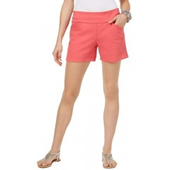 INC Curvy Pull-On Shorts Polished Coral 4 at Women's Clothing store