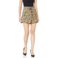 Moon River Women's High Waisted Paperbag Shorts with Belt at Women's Clothing store