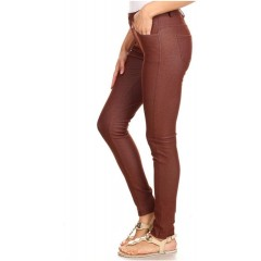 Women's Jean Look Jeggings - Tights Slimming - Many Colors - Spandex Leggings Pants by Body Therapy Coffee Small at Women's Clothing store