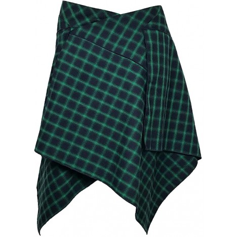 The Celtic Ranch Tartan Skirt Women's Plaid Skirt with Pockets Ladies' Traditional Scottish Skirts at Women's Clothing store
