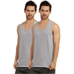 Tank Top - Men's Relaxed Fit Cotton Tank Top - 2 in a Pack