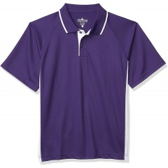 Charles River Apparel Men's Classic Wicking Polo Purple White 5XL