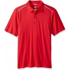 Cutter & Buck Men's Moisture Wicking 50+ UPF Fusion Snap Placket Polo Shirt at Men's Clothing store
