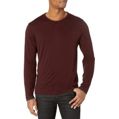 Vince Men's Double Layer Henley at Men's Clothing store