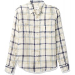 Lucky Brand Men's Long Sleeve Button Up Double Weave Mason Workwear Shirt at  Men's Clothing store