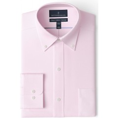 Brand - Buttoned Down Men's Classic Fit Button Collar Solid Non-Iron Dress Shirt Light Pink w Pocket 14.5 Neck 32 Sleeve