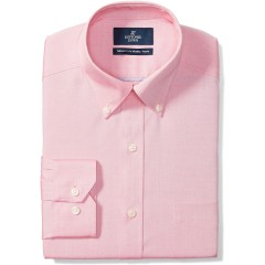 Brand - Buttoned Down Men's Tailored-Fit Button Collar Pinpoint Non-Iron Dress Shirt Pink 16 Neck 37 Sleeve
