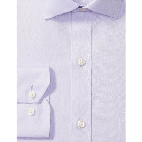 Brand - Buttoned Down Men's Tailored Fit Spread Collar Solid Non-Iron Dress Shirt Purple w Pocket 15 Neck 35 Sleeve