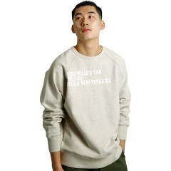 N 850 the Walk Sweatshirt with Letters Oatmeal at Men's Clothing store