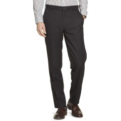 Arrow Men's Flat Front Straight Fit Solid Twill Micro Dress Pant at Men's Clothing store