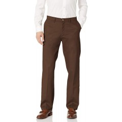 LEE Men's Total Freedom Stretch Relaxed Fit Flat Front Pant at Men's Clothing store