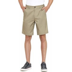 PULI Men's Golf Hybrid Dress Shorts Casual Chino Stretch Flat Front Lightweight Quick Dry with Pockets at  Men's Clothing store
