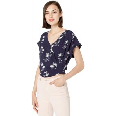 Parker Women's Coco Short Sleeve Wrap Front Top at Women's Clothing store