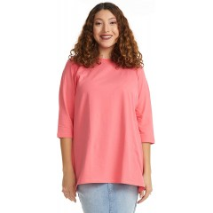 ESTEEZ Women's 3 4 Sleeve Cotton Pullover Crew Neck Casual Loose Fit Tunic Top at  Women's Clothing store