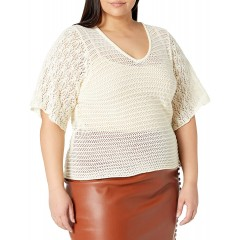 KENDALL + KYLIE Women's Plus Size V Neck Flare Sleeve Top at Women's Clothing store